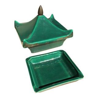Ever Art California Pagoda Cigarette Box With Ashtray