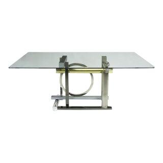 Design Institute America Metal Sculpture Dining Table