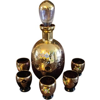 6-Piece Crystal Bohemia Decanter & Glasses Set