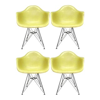 Set of Four Eames Zenith DAR Armchairs by Herman Miller