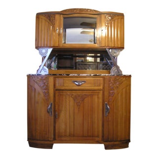 Vintage 1920's French Walnut Server