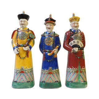 Chinese Ching Qing Emperor Figures - Set of 3