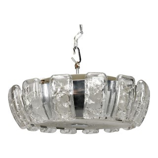 Kalmar Mid-Century Icicle Glass Flush Mount Light Fixture
