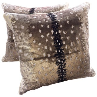 Belgian Antelope Velvet Pillows - A Pair