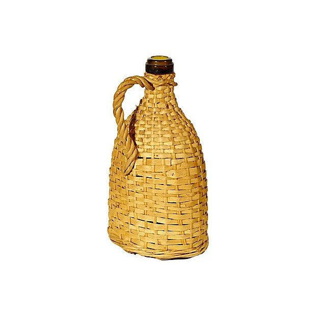 1950's Rattan-Wrapped Bottle - Image 2 of 3