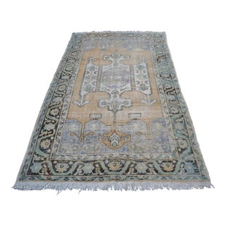 Beige Turkish Faded Anatolian Carpet - 4′11″ × 8′7″