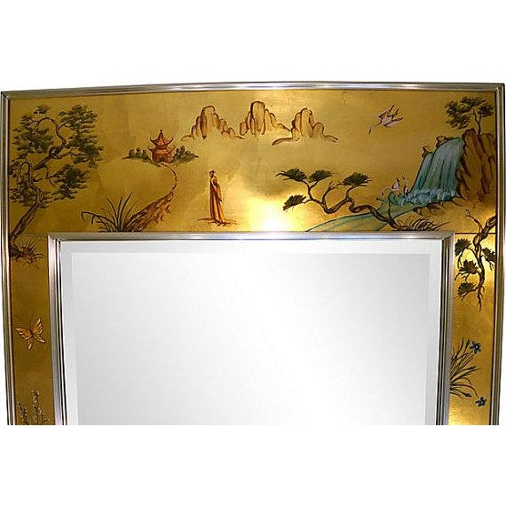 La Barge Chinoiserie Wall Mirror - Image 2 of 5