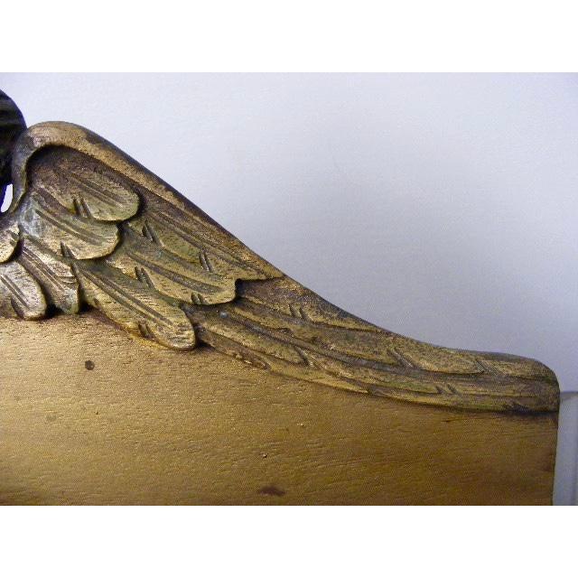 Image of 1920s Vintage Italian Carved Guilded Wooden Tole Letter Holder