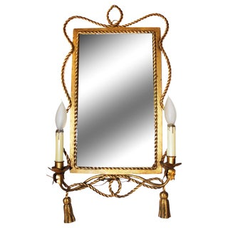 Italian Gilt-Metal Illuminated Mirror