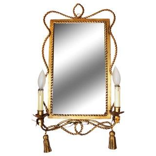 Italian Gilt-Metal Illuminated Mirror
