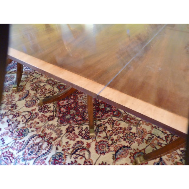 Kittinger Triple Pedestal Mahogany Dining Table - Image 3 of 5