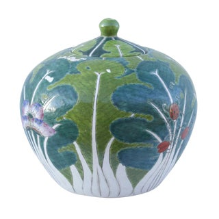 Enameled Chinese Porcelain Jar