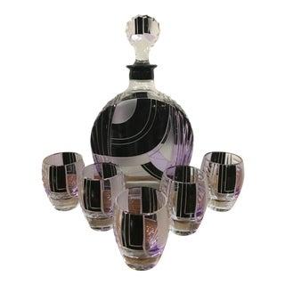 Karl Palda Purple & Black Decanter Set - Set of 6