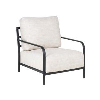 Linen Lounge Chair
