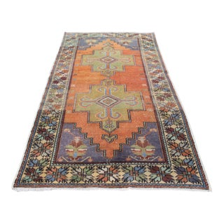 "Turkish Antique Handmade Rug - 57"" x 108"""