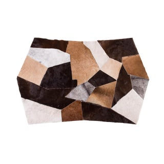 "Contemporary Cowhide Patchwork Area Rug - 5'9"" x 3'7"""