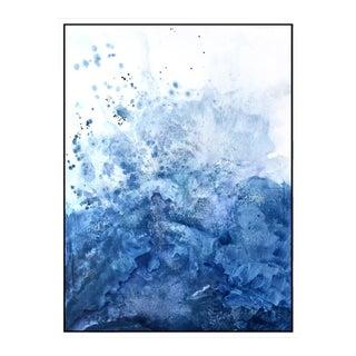 Blue Salt Watercolor Framed Giclée Print 30 x 40