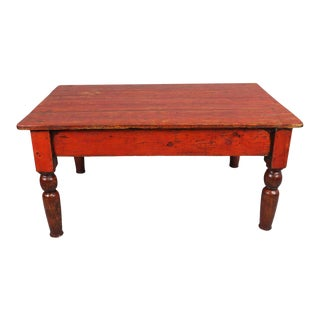 Low Red Painted Coffee Table