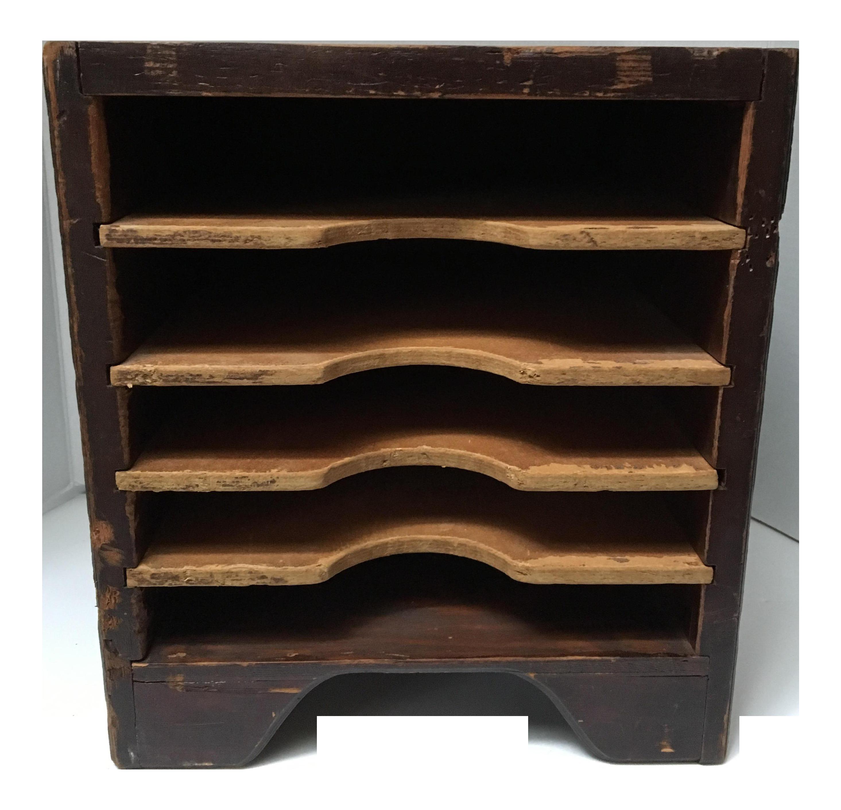 image of vintage wooden paper sorter