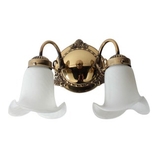2 Light Brass Wall Sconce
