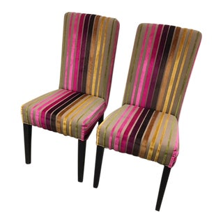Transitional Upholstered Dining Chairs - A Pair