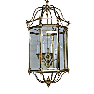 Brass & Glass Eight-Light Octagonal Lantern