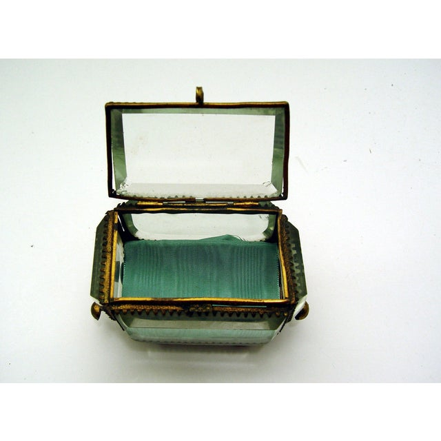 Vintage French Bevel Glass & Ormolu Carriage Box - Image 4 of 5