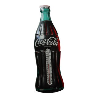 Vintage Coca-Cola Metal Thermometer Sign