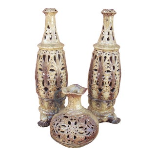 Boho Style Candle Lanterns - Set of 3