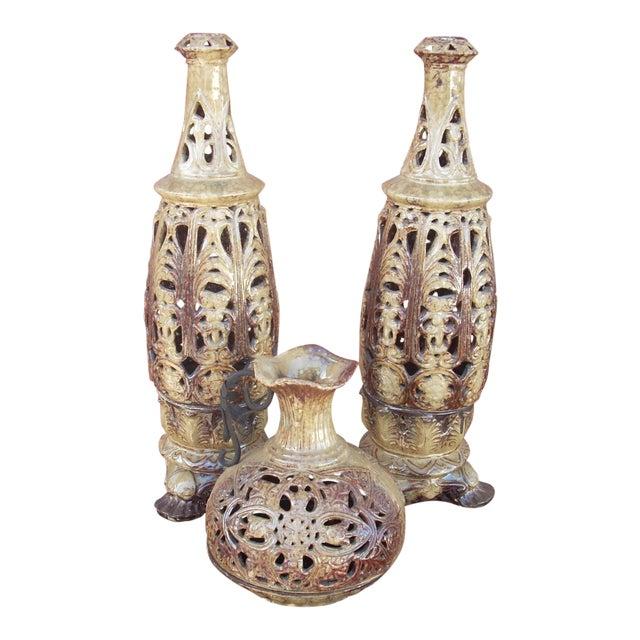 Boho Style Candle Lanterns - Set of 3 - Image 1 of 5