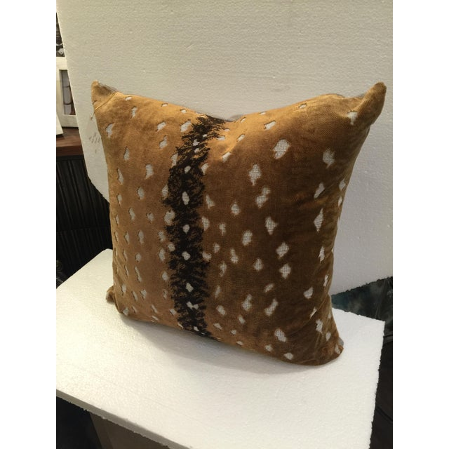 Velvet Animal Print Pillows : Brown Animal Print Velvet Pillow Chairish