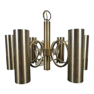 Lightolier Mid-Century Bronze Chandelier