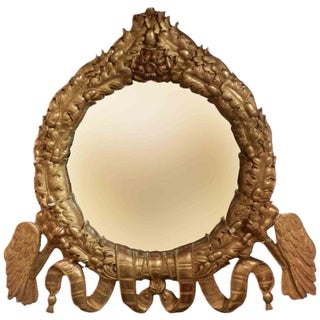 A Rare Grand Scaled Antique Gilt Wall Mirror