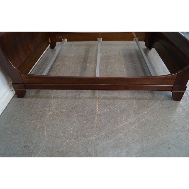 Grange Cherry Wood Queen Size Sleigh Bed - Image 3 of 10