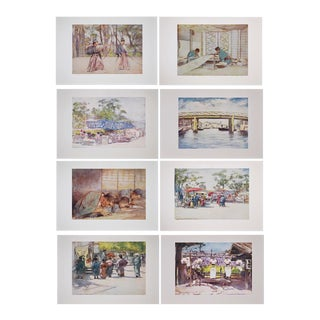 Original Lithographic Japan by Mortimer Menpes, 1901 - Set of 8