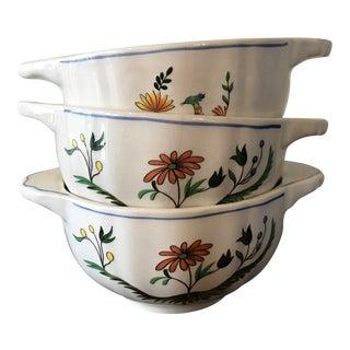 Gien France Chowder Bowls - Set of 3
