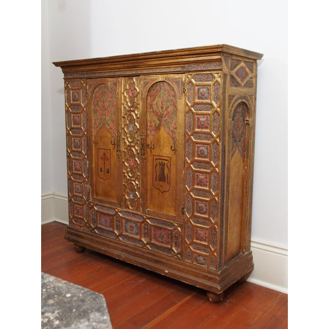 Italian Polychrome Two Door Cabinet - Image 3 of 11
