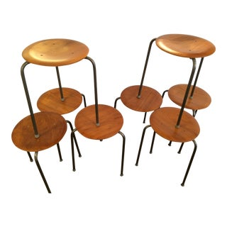 Arne Jacobson for Fritz Hansen Dot Stools - Set of 7