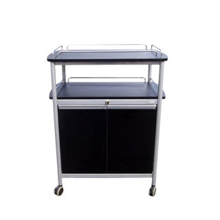 Large Safco Metal Bar Cart on Casters