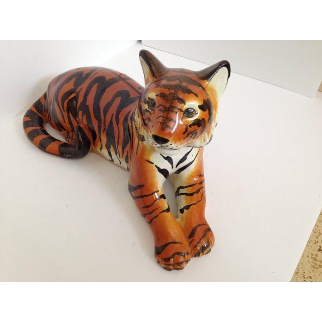 Italian Ceramic Tiger - Image 3 of 6