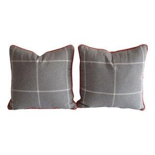 Ralph Lauren Grey Plaid pillows