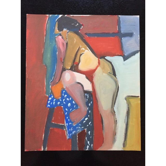 1940-50s Vintage Bay Area Figurative Female Nude Painting by Jerry Opper - Image 2 of 7