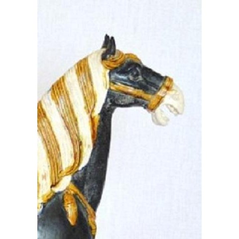 Image of Tang Dynasty Style Ceramic War Horse Statue