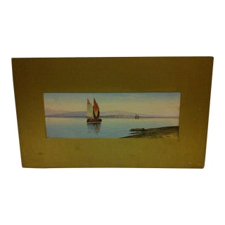 "Original Painting on Paper Titled ""Venice"" Circa 1890"