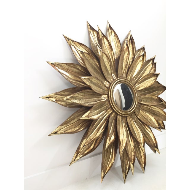 Image of Golden Flower Petals Mirror