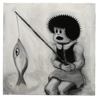 """""""Fishin'"""" Pop Art Cartoon by Junior Martin"""