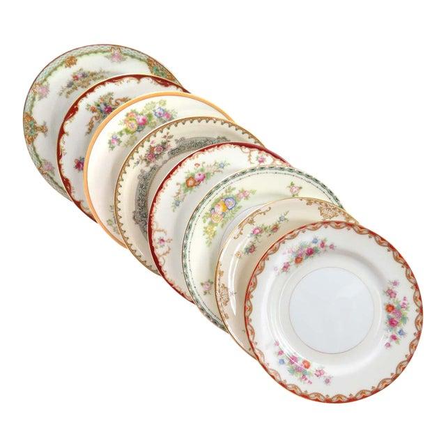 Mismatched Vintage Dessert Plates - Set of 8 - Image 1 of 11