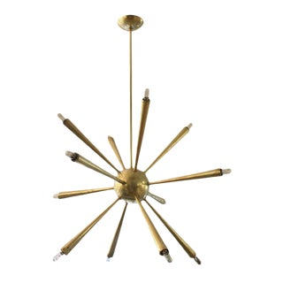 Early Brass Sputnik Chandelier