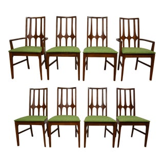 Broyhill Brasilia Walnut Dining Chairs - Set of 8