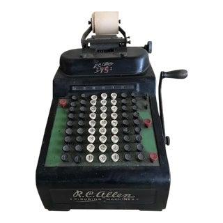 Vintage Rc Allen Adding Machine #75